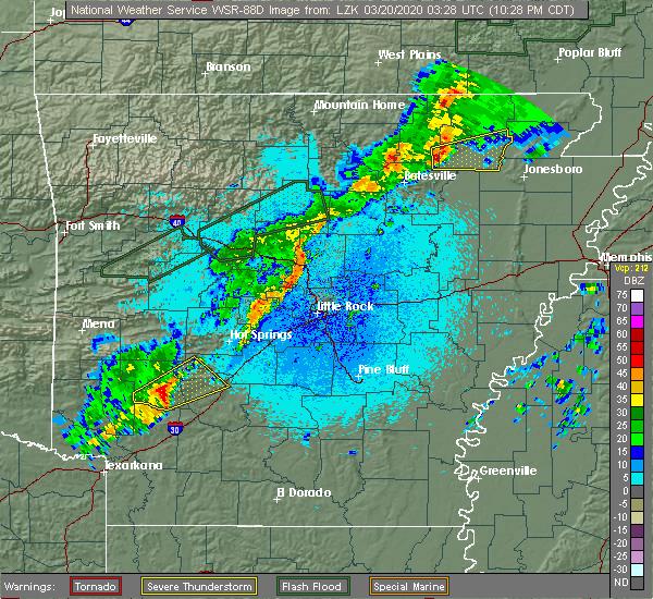 Radar Image for Severe Thunderstorms near Delight, AR at 3/19/2020 10:36 PM CDT
