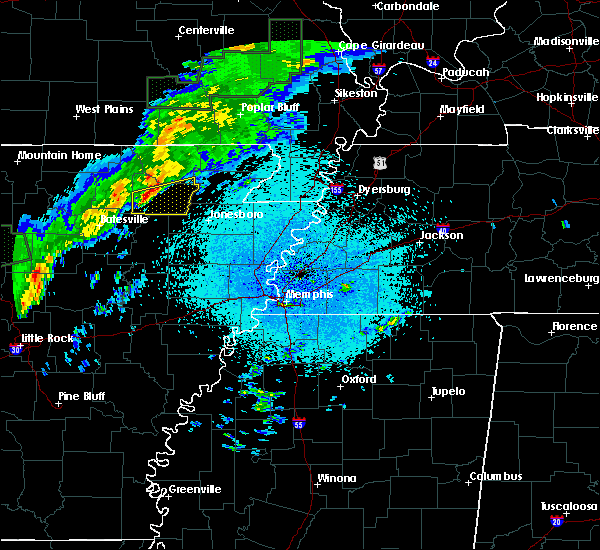 Radar Image for Severe Thunderstorms near College City, AR at 3/19/2020 10:52 PM CDT