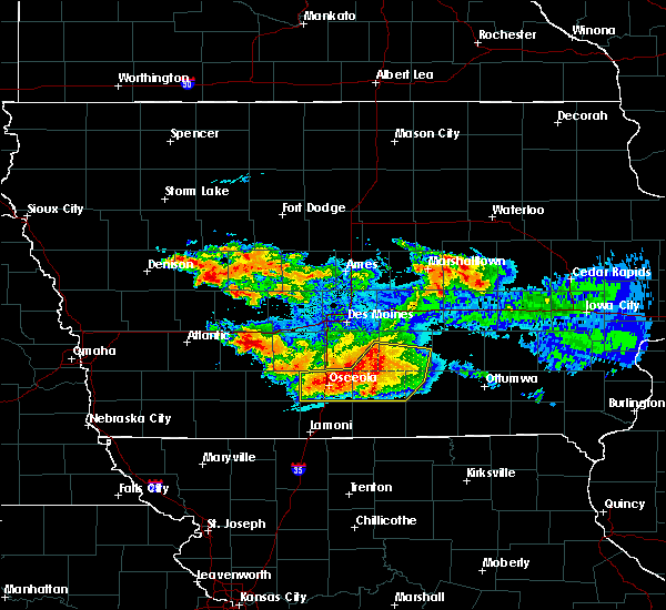 Radar Image for Severe Thunderstorms near Clio, IA at 6/24/2015 9:20 PM CDT