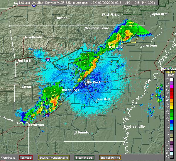 Radar Image for Severe Thunderstorms near Delight, AR at 3/19/2020 10:55 PM CDT
