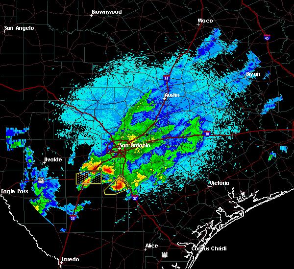 Radar Image for Severe Thunderstorms near Christine, TX at 3/19/2020 10:58 PM CDT