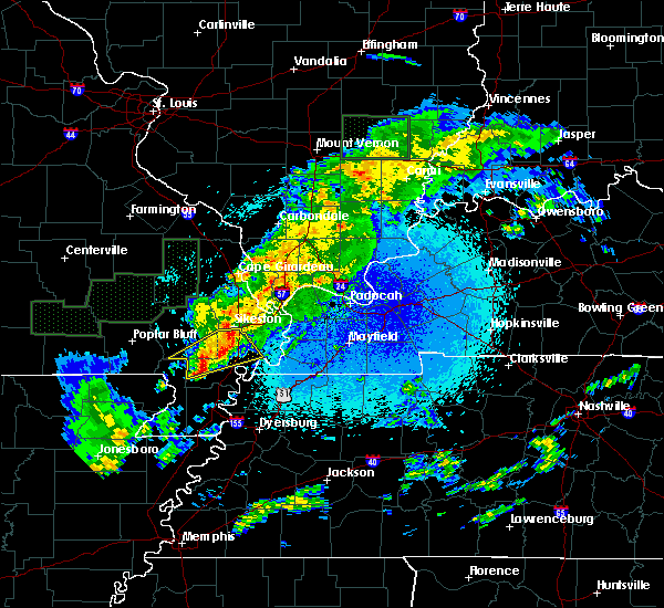 Radar Image for Severe Thunderstorms near New Madrid, MO at 3/20/2020 12:33 AM CDT