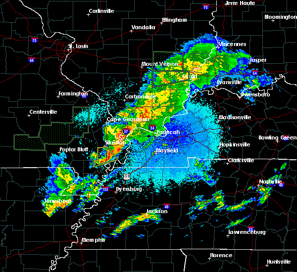 Radar Image for Severe Thunderstorms near Mound City, IL at 3/20/2020 12:51 AM CDT