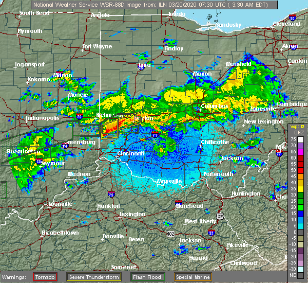 Radar Image for Severe Thunderstorms near Darrtown, OH at 3/20/2020 3:38 AM EDT