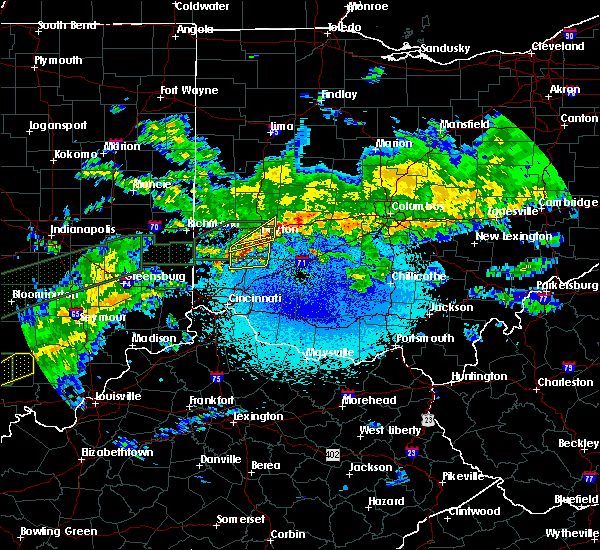 Radar Image for Severe Thunderstorms near Kettering, OH at 3/20/2020 3:52 AM EDT