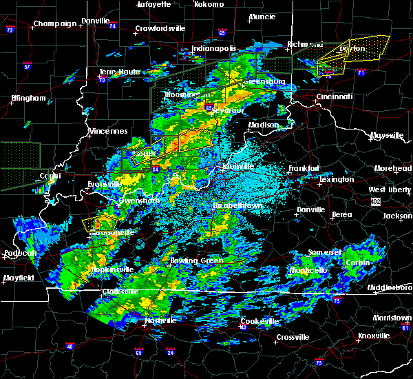 Radar Image for Severe Thunderstorms near Livonia, IN at 3/20/2020 3:53 AM EDT