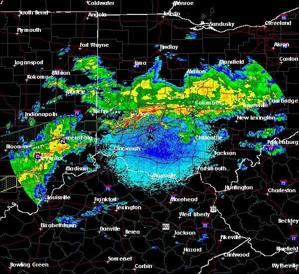 Radar Image for Severe Thunderstorms near Kettering, OH at 3/20/2020 3:58 AM EDT