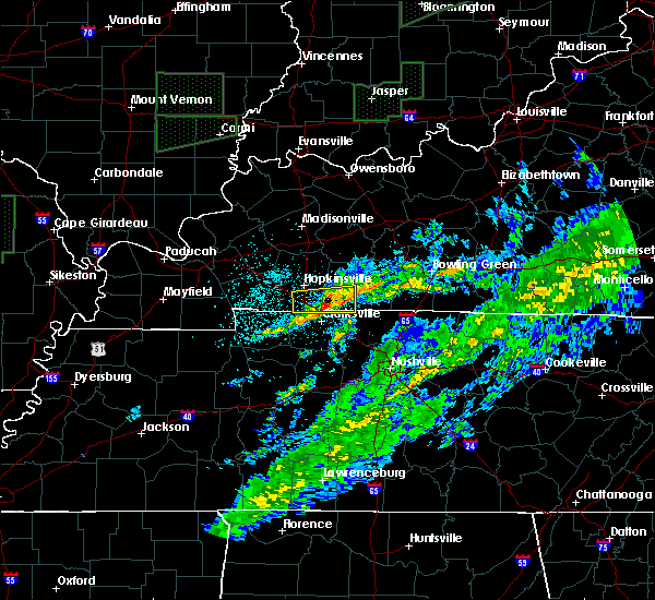 Radar Image for Severe Thunderstorms near Clarksville, TN at 3/20/2020 5:06 AM CDT