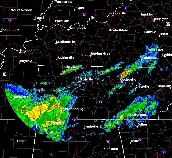 Radar Image for Severe Thunderstorms near Livingston, TN at 3/20/2020 11:27 AM CDT