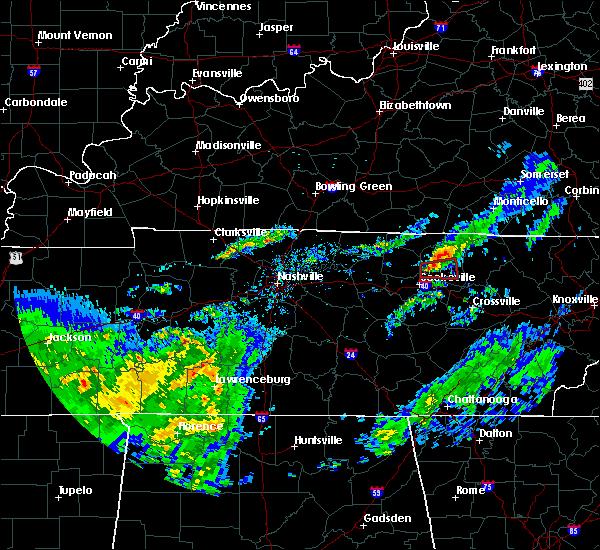 Radar Image for Severe Thunderstorms near Livingston, TN at 3/20/2020 11:32 AM CDT