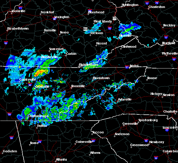 Radar Image for Severe Thunderstorms near Jamestown, TN at 3/20/2020 12:13 PM CDT