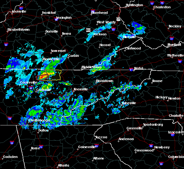 Radar Image for Severe Thunderstorms near Oneida, TN at 3/20/2020 1:20 PM EDT