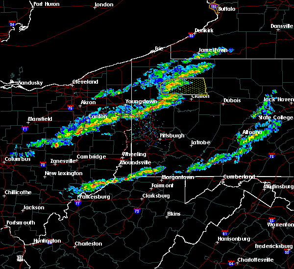 Radar Image for Severe Thunderstorms near Zoar, OH at 3/20/2020 1:32 PM EDT