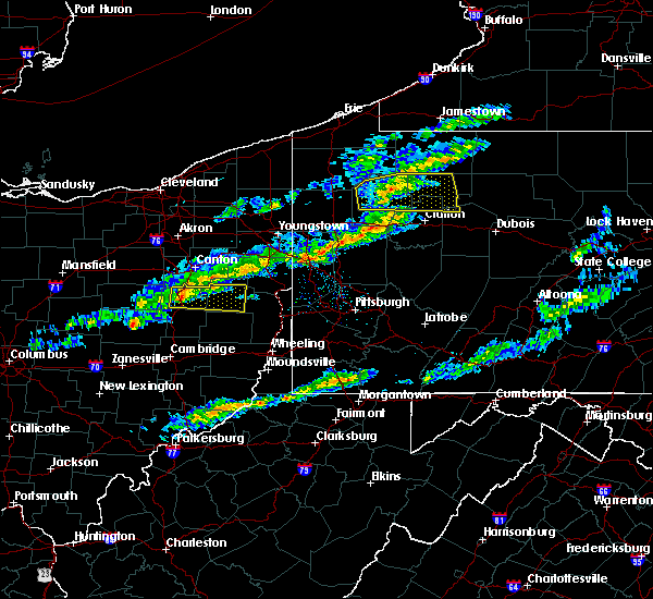 Radar Image for Severe Thunderstorms near Rouseville, PA at 3/20/2020 1:35 PM EDT