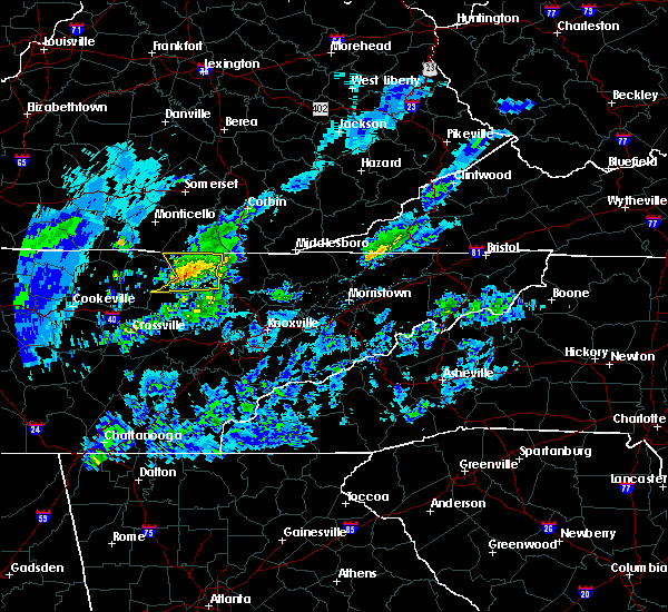Radar Image for Severe Thunderstorms near Oneida, TN at 3/20/2020 1:44 PM EDT