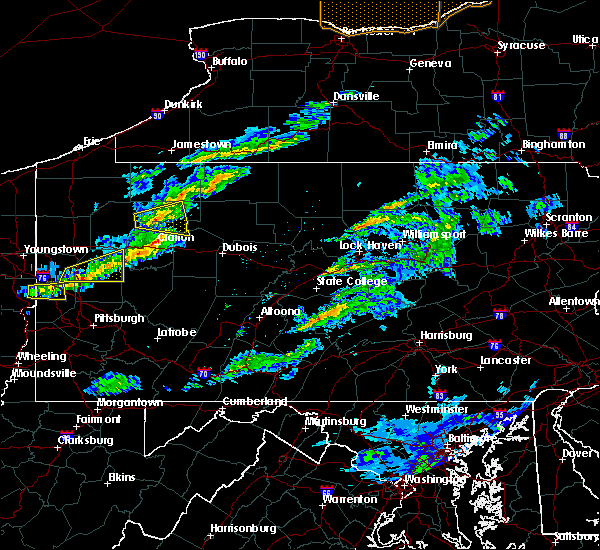 Radar Image for Severe Thunderstorms near Vowinckel, PA at 3/20/2020 1:53 PM EDT