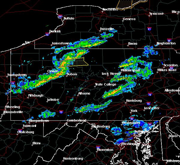 Radar Image for Severe Thunderstorms near Johnsonburg, PA at 3/20/2020 2:18 PM EDT