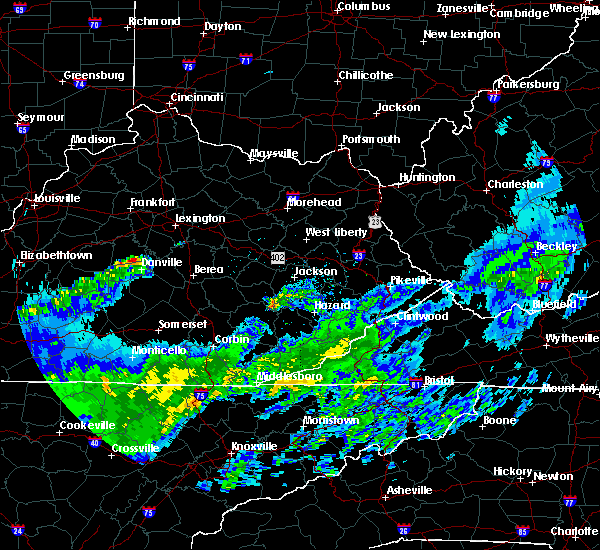 Radar Image for Severe Thunderstorms near Oneida, KY at 3/20/2020 3:48 PM EDT
