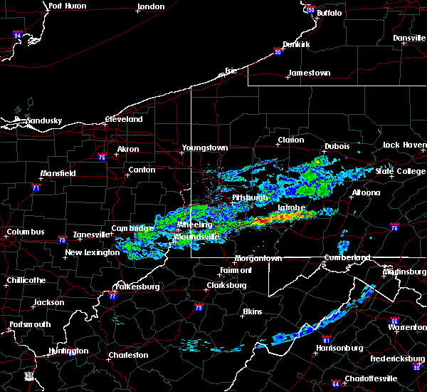 Radar Image for Severe Thunderstorms near Youngwood, PA at 3/20/2020 4:35 PM EDT