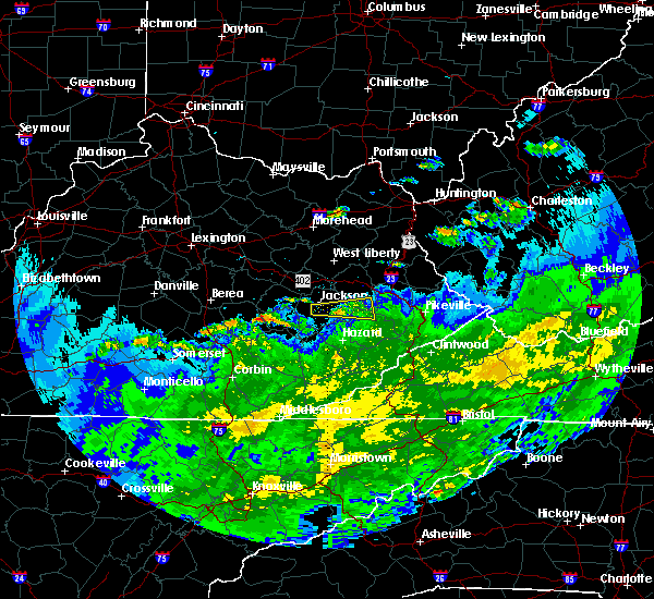 Radar Image for Severe Thunderstorms near McKee, KY at 3/20/2020 7:33 PM EDT