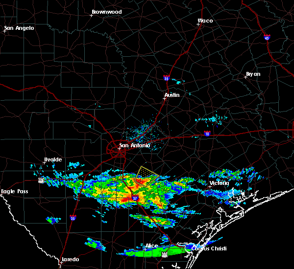 Radar Image for Severe Thunderstorms near Floresville, TX at 3/21/2020 10:42 AM CDT