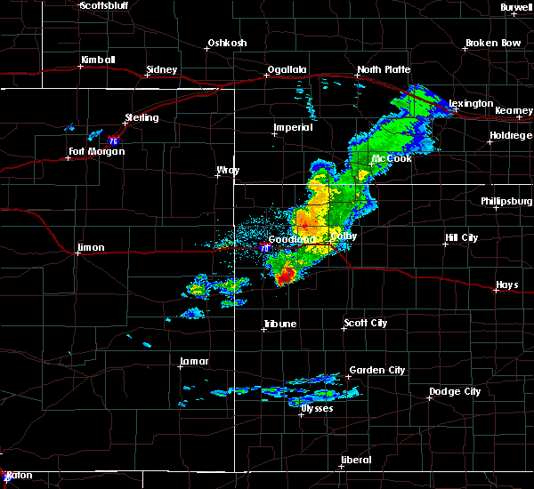 Radar Image for Severe Thunderstorms near Wallace, KS at 3/22/2020 4:35 PM MDT