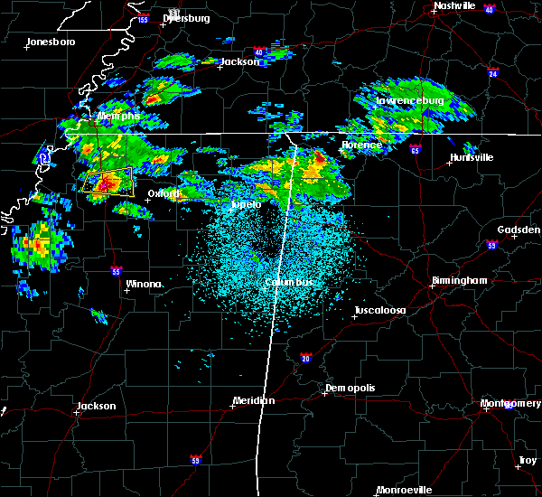 Radar Image for Severe Thunderstorms near Lexington, AL at 3/22/2020 11:29 PM CDT