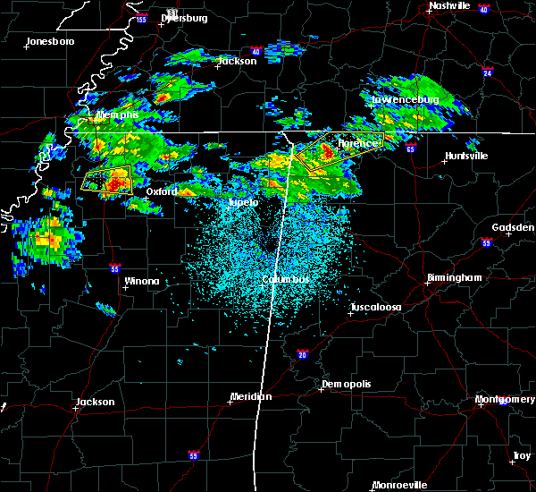 Radar Image for Severe Thunderstorms near Lexington, AL at 3/22/2020 11:35 PM CDT