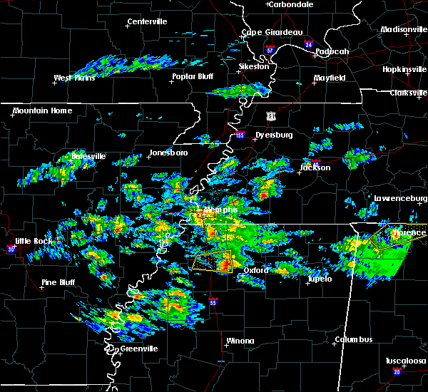 Radar Image for Severe Thunderstorms near Senatobia, MS at 3/22/2020 11:41 PM CDT