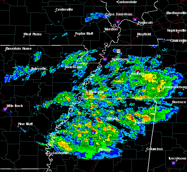 Radar Image for Severe Thunderstorms near Oxford, MS at 3/23/2020 1:13 AM CDT