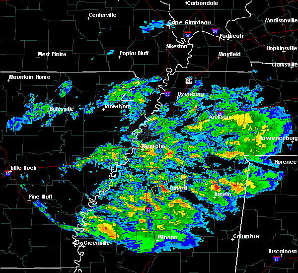 Radar Image for Severe Thunderstorms near Oxford, MS at 3/23/2020 1:20 AM CDT