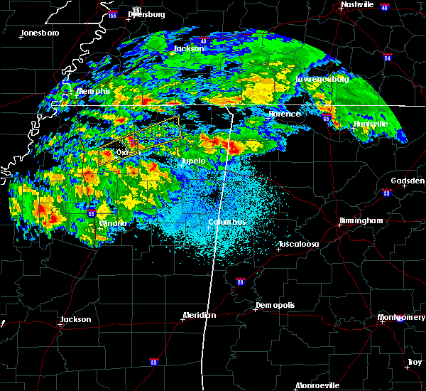 Radar Image for Severe Thunderstorms near Hickory Flat, MS at 3/23/2020 1:38 AM CDT