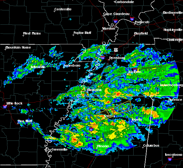 Radar Image for Severe Thunderstorms near Oxford, MS at 3/23/2020 1:44 AM CDT
