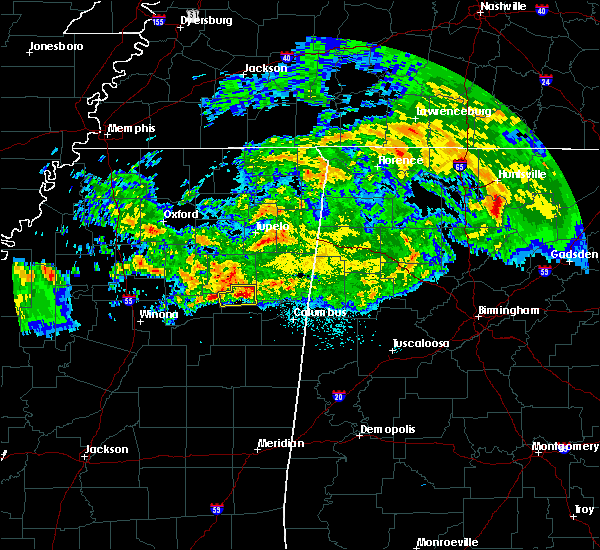 Radar Image for Severe Thunderstorms near Aberdeen, MS at 3/23/2020 3:40 AM CDT