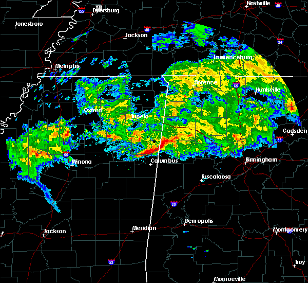 Radar Image for Severe Thunderstorms near Aberdeen, MS at 3/23/2020 4:24 AM CDT