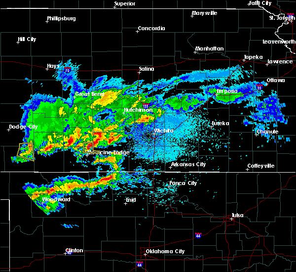 Radar Image for Severe Thunderstorms near Norwich, KS at 3/24/2020 1:56 AM CDT