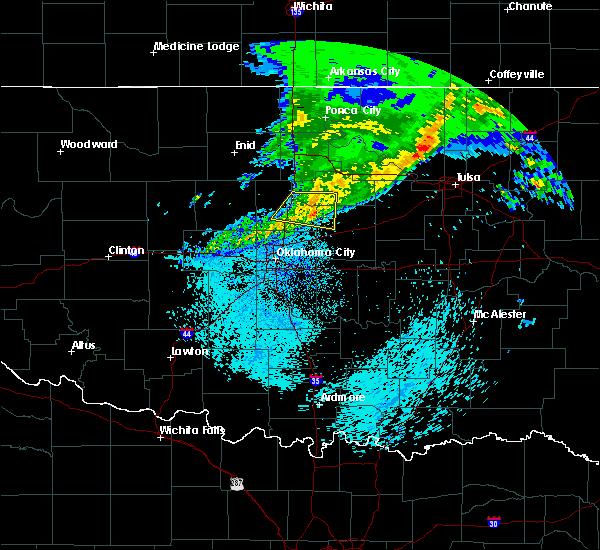 Radar Image for Severe Thunderstorms near Carney, OK at 3/24/2020 5:17 AM CDT