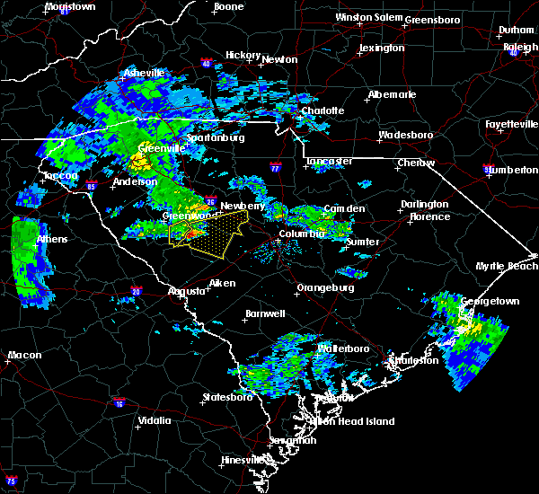 Radar Image for Severe Thunderstorms near Batesburg-Leesville, SC at 3/24/2020 10:53 AM EDT