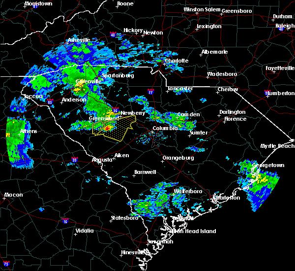 Radar Image for Severe Thunderstorms near Batesburg-Leesville, SC at 3/24/2020 10:59 AM EDT
