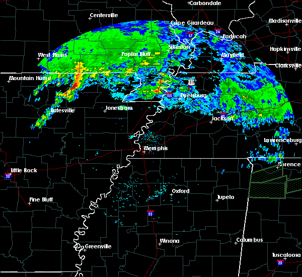 Radar Image for Severe Thunderstorms near College City, AR at 3/24/2020 10:17 AM CDT