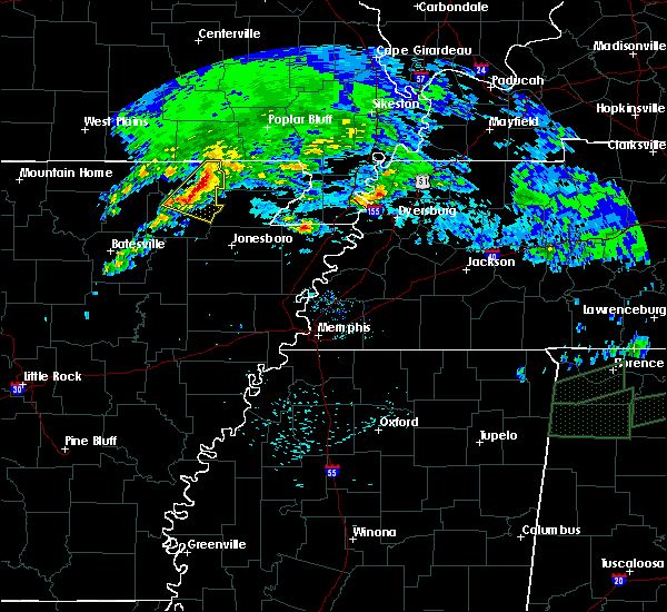 Radar Image for Severe Thunderstorms near Delaplaine, AR at 3/24/2020 10:37 AM CDT