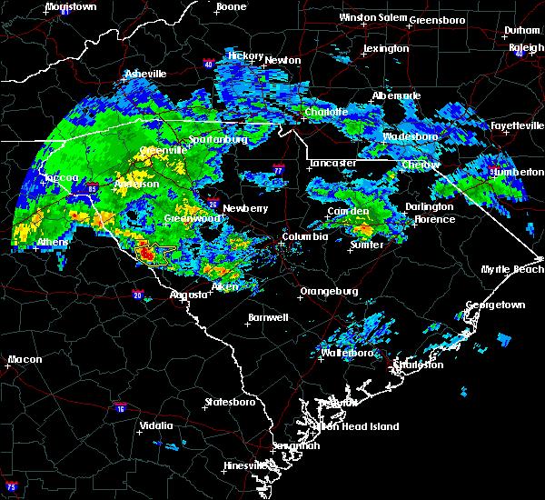 Radar Image for Severe Thunderstorms near Willington, SC at 3/24/2020 12:54 PM EDT