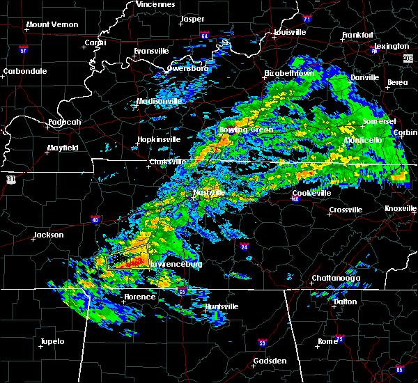 Radar Image for Severe Thunderstorms near Lawrenceburg, TN at 3/24/2020 5:19 PM CDT