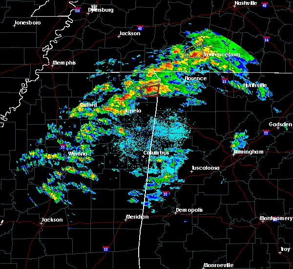 Radar Image for Severe Thunderstorms near Tuscumbia, AL at 3/24/2020 5:28 PM CDT