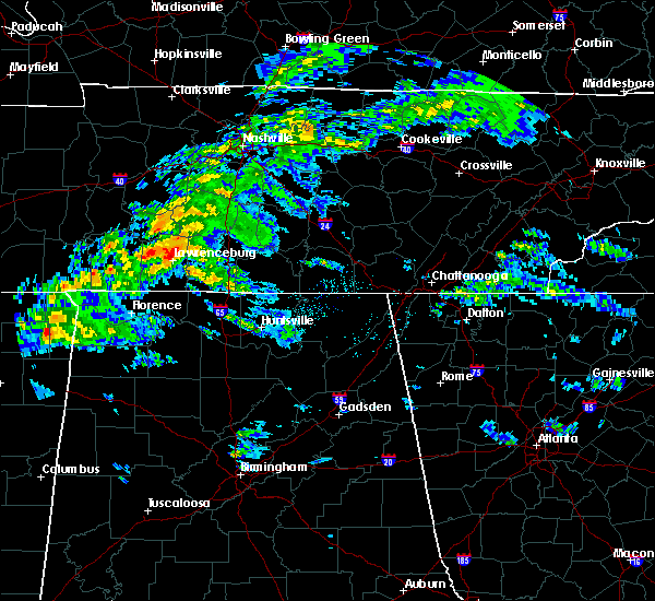 Radar Image for Severe Thunderstorms near Lawrenceburg, TN at 3/24/2020 5:30 PM CDT