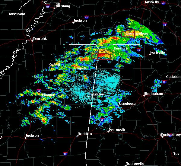 Radar Image for Severe Thunderstorms near Cherokee, AL at 3/24/2020 5:46 PM CDT
