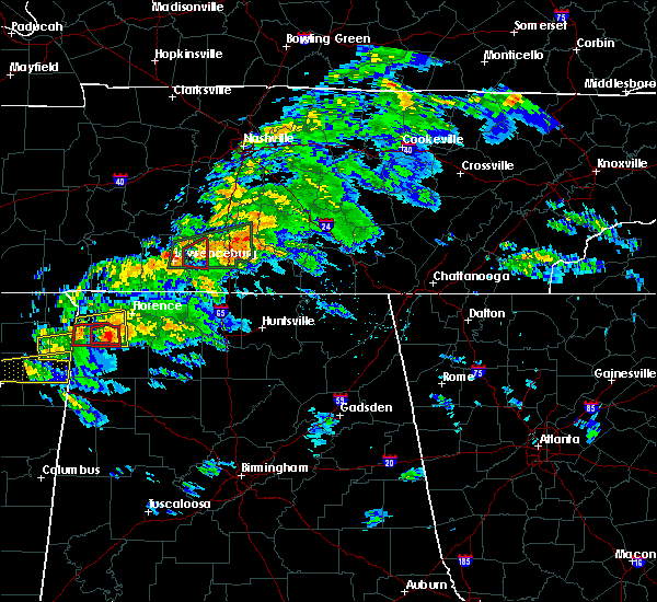 Radar Image for Severe Thunderstorms near Lewisburg, TN at 3/24/2020 6:03 PM CDT