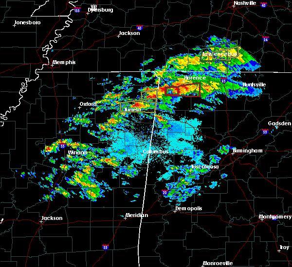 Radar Image for Severe Thunderstorms near Littleville, AL at 3/24/2020 6:06 PM CDT
