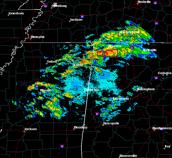 Radar Image for Severe Thunderstorms near Tuscumbia, AL at 3/24/2020 6:11 PM CDT