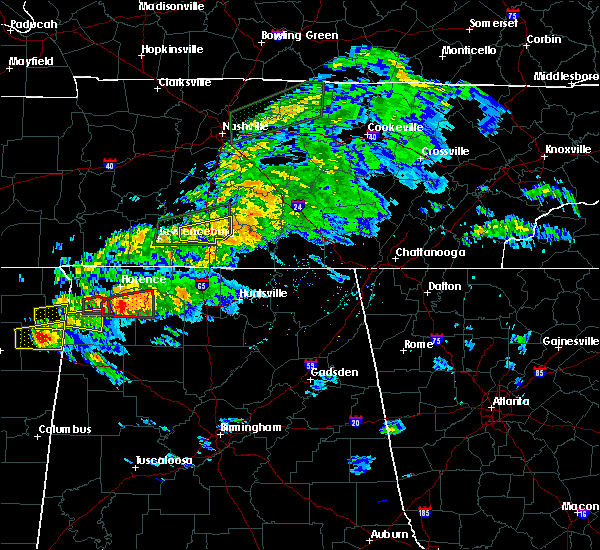 Radar Image for Severe Thunderstorms near Lewisburg, TN at 3/24/2020 6:19 PM CDT